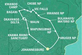 Map Of Southern Africa by Best Of Southern Africa South Africa Tours Geckos Adventures Au