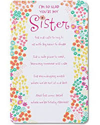 amazon com american greetings my sister birthday card for sister