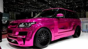 land rover pink hamann details its pink range rover