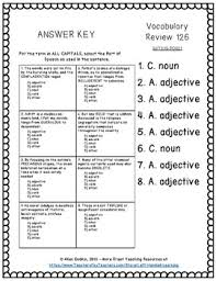 sat act practice worksheets vocabulary context clues answer keys