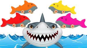 learn colors children color sharks 3d color balls