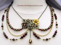 crystal design necklace images Creative art expressions handmade pearl crystal spring chic JPG