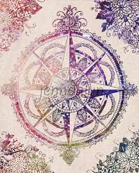 Cute Wall Tapestry Voyager Ii Wall Tapestry Compass Rose Compass And Bohemian