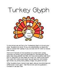 distribute copies of the turkey glyph patterns and the legend to
