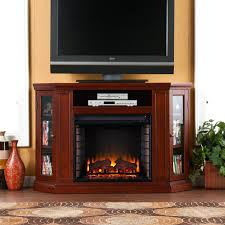 lowes walnut media electric fireplace furniture stand black