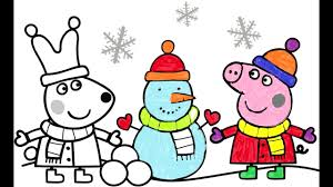 peppa pig coloring page drawing pepa for kids coloring book