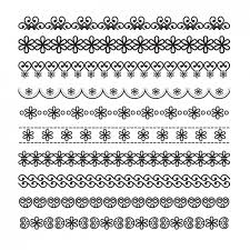 ornamental borders with floral details vector free
