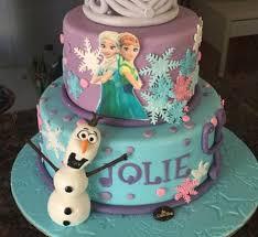 frozen themed 2 tier cake 2