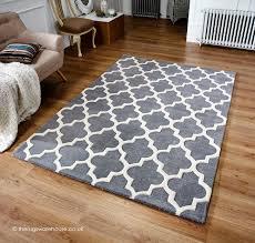 rugs uk modern arabesque grey rug