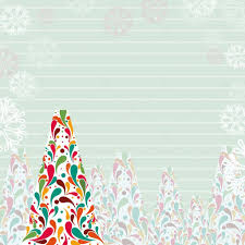 a beautiful christmas tree on line paper background for christma