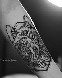 Forearm Wolf - 35 astonishing geometric wolf tattoos amazing ideas