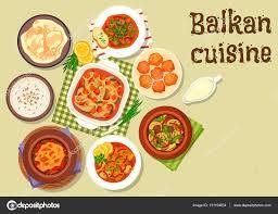 cuisine des balkans icône de plats de viande traditionnelle cuisine des balkans