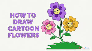how to draw cartoon flowers in a few easy steps drawing tutorial