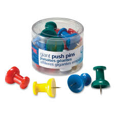 Pushpins Giant Push Pins Walmart Com