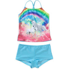 Unicorn Clothes For Girls Op Girls U0027 Tankini Unicorn Cuties Walmart Com