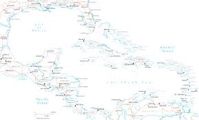 Map Of North And Central America by Map Of North America And Caribbean Countries And Map Usa Caribbean