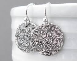 in earrings silver earrings etsy