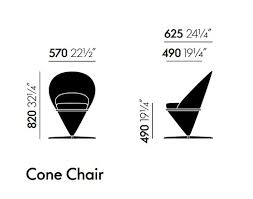 Cone Chair Swivel Fabric Armchair Cone Chair By Vitra Design Verner Panton