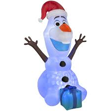 shop gemmy 6 ft x 3 28 ft lighted olaf christmas inflatable at