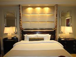 bedroom ideas men with elegant masterbed and stylish twin mirror