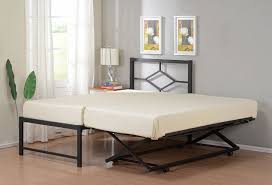twin size metal hirise day bed daybed frame with headboard pop