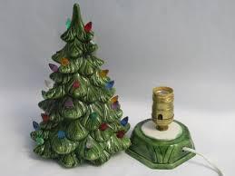 xmas tree on table ceramic table top christmas tree retro vintage light up tree
