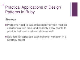 software design pattern strategy software design trilogy part ii design patterns for rubyists