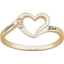 sterling silver engagement rings walmart personalized 18k gold sterling silver accent name