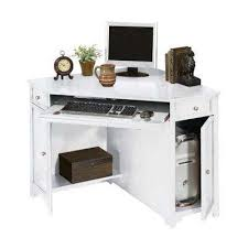 mission oak corner computer desk corner wood desks home office furniture the home depot