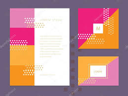 Business Card And Letterhead Letterhead Template Business Card And Brochure Cover U2014 Stock