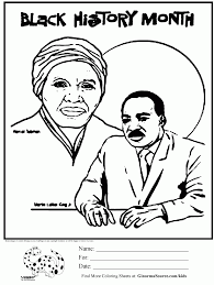 black history month coloring pages in black history month coloring