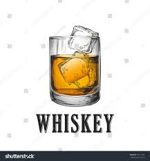 drink vector whiskey glass hand drawn drink vector stock vector 707117767