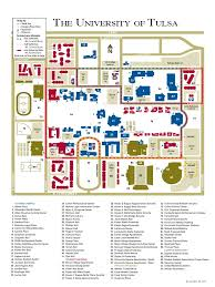 Tulsa Airport Map Download University Of Tulsa Campus Map Docshare Tips