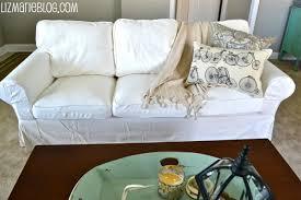 new white slipcover ikea couches liz marie blog