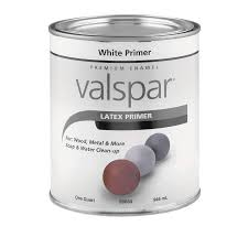 shop valspar primer white flat latex interior exterior paint