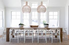 Oak Dining Room White Wood Chairs At Caramel Stained Oak Dining Table Cottage