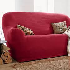 housse canapé deux places housse unie extensible fauteuil canapé blancheporte
