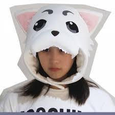 White Cat Halloween Costume Gintama Cosplay Sadaharu Costume Hats Ears White Cat Plusht