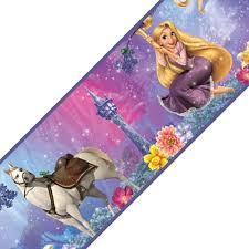 disney princess tangled rapunzel self stick wall border roll