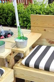 diy outdoor sectional with built in drink coolers u0026 umbrella