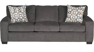 lucan gray sleeper sofa casual textured