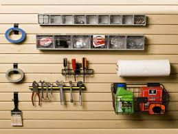 pegboard garage wall hanging storage u2014 railing stairs and kitchen