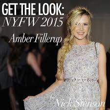 amber fillerup get the look amber fillerup at nyfw styled by nick stenson