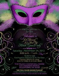 Black Invitation Card Gorgeous Mardi Gras Party Invitation Card Design With Huge Mask