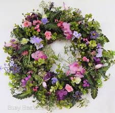 front door french country wreath wildflower year