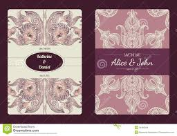 Wedding Invitation Cards Templates Free Download Vintage Save The Date Or Wedding Invitation Card Collection