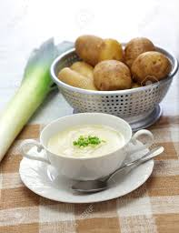 cuisine vichy vichyssoise cold potato soup summer cuisine stock photo