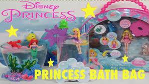 3 disney princess bath sets rapunzel ariel and sleeping beauty
