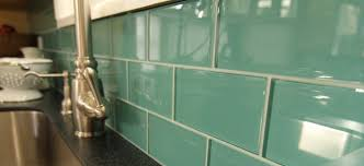 Anatolia Interiors Kitchen  Bathroom Backsplash - Green glass backsplash tile