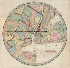 Radius On Map Welcome To Historynyc Historical Maps Poster Books And Custom
